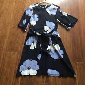 Brand New Ann Taylor orchid print dress size 8